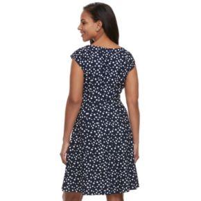 Women's ELLE? Dot Fit & Flare Dress