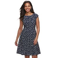 Women's ELLE™ Dot Fit & Flare Dress