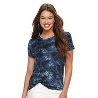 Juniors' Cloud Chaser Patriotic Knot Front Tee