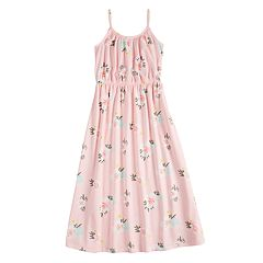 Girls 4-10 Jumping Beans® Patterned Cami Strap Maxi Dress