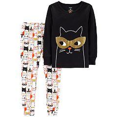 Baby Girl Carter's Halloween Cat Top & Bottoms Pajama Set