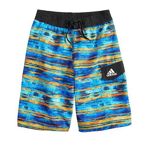 Boys 8-20 adidas Water Stripe Swim Trunks