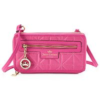 Juicy Couture Crown Jewel Quilted Crossbody Wallet