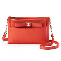 Juicy Couture Bow Crossbody Bag with Removable Pouch