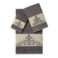Linum Home Textiles Scarlet 3 pc Embellished Bath Towel Set