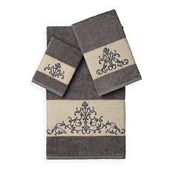 Linum Home Textiles Scarlet 3-piece Embellished Bath Towel Set