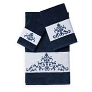 Linum Home Textiles Scarlet 3 pc Embellished Bath Towel Set