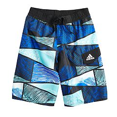 Boys 8-20 adidas Water Stripe Swim Trunks