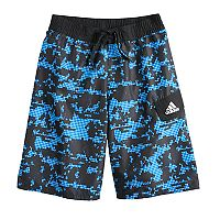Boys 8-20 adidas Camo Grid Swim Trunks