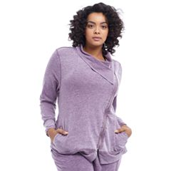 Plus Size Balance Collection Mayven Thumb Hole Jacket