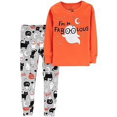 Baby Girl Carter's 'I'm Fabulous' Halloween Ghost Top & Bottoms Pajama Set