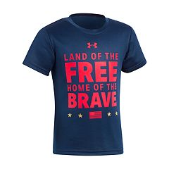 Boys 4-7 Under Armour 'Land Of The Free Home Of The Brave' Graphic Tee