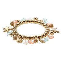 Sealife Charm Stretch Bracelet