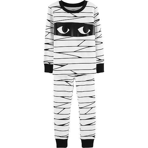 Baby Carter's Glow-In-The-Dark Halloween Mummy Pajama Set