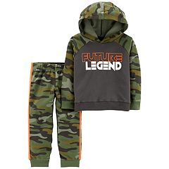 Toddler Boy Carter's 'Future Legend' Camo Hoodie & Pants Set
