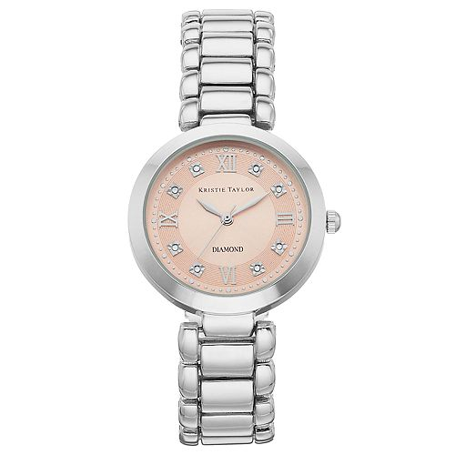 Kristie Taylor Women's Diamond Accent Watch - KH5299SL.KT