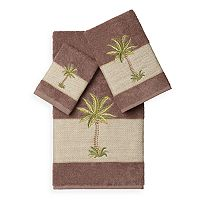 Linum Home Textiles Colton 3-piece Embellished Bath Towel Set