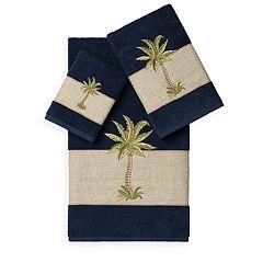 Linum Home Textiles Colton 3-piece Embellished Bath Towel Set