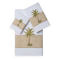 Linum Home Textiles Colton 3 pc Embellished Bath Towel Set