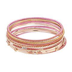 Pink Bangle Bracelet Set