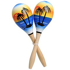Beach-Painted Maracas