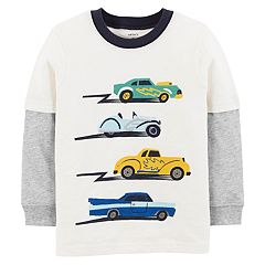 Baby Boy Carter's Cars Mock Layer Graphic Tee