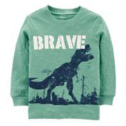 "Baby Boy Carter's ""Brave"" Dinosaur Slubbed Graphic Tee"