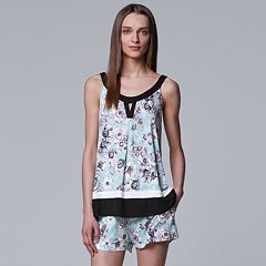 Women's Simply Vera Vera Wang Tank & Boxer Shorts Pajama Set