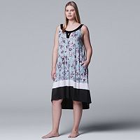 Plus Size Simply Vera Vera Wang High-Low Keyhole Chemise