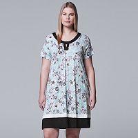 Plus Size Simply Vera Vera Wang Printed Sleepshirt
