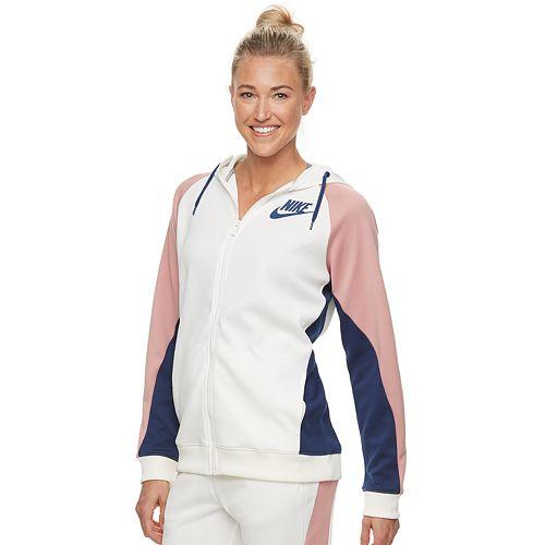 Women s Nike Sportswear Color Block Full-Zip Hoodie f5c5be4fd