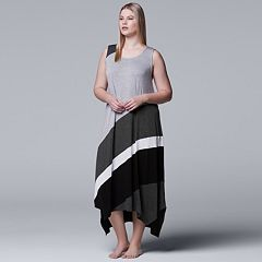 Plus Size Simply Vera Vera Wang Colorblock Maxi Chemise