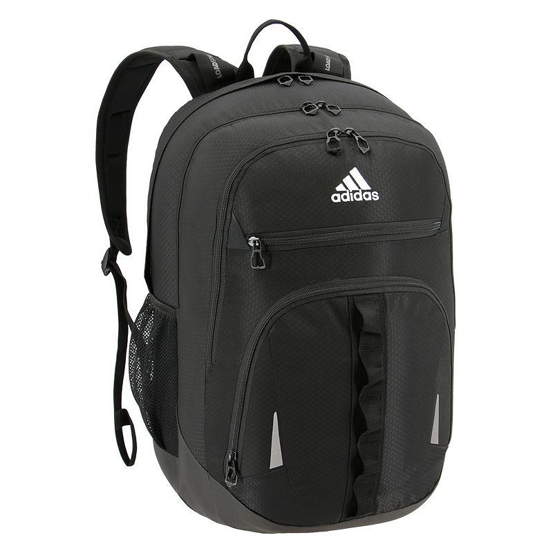 Adidas Prime IV Backpack, Black Keep essentials organized with this Adidas backpack. XXL size built with durable material for lasting use Internal zippered organizer keeps items handy Fully reflective accent panels to keep you seen da LoadSpring shoulder straps help ease the weight Five exterior zippered pockets Laptop compartment fits up to a 17-in. laptop 20.5 H x 14 W x 14.5 D Weight: 1.75 lbs. Polyester Zipper closure Manufacturer's lifetime limited warrantyFor warranty information please click here Model no. 5145518 Model Numbers Black: 5145518 Onix Jersey: 5145523 Royal Blue Jersey: 5145459 Onix Jersey Pink: 5145497 Black Jersey Red: 5145464 Onix Looper Aqua: 5145514 White Looper Black: 5145502 Burgundy Jersey: 5145516 Black Royal: 5145472 Royal Blue: 5145526 Carbon Light Blue: 5145457 Black Looper Orange: 5145512 Black Shock Pink: 5145471 Carbon Trace Pink: 5145503 Gray Onix Mint: 5145487 Size: One size.