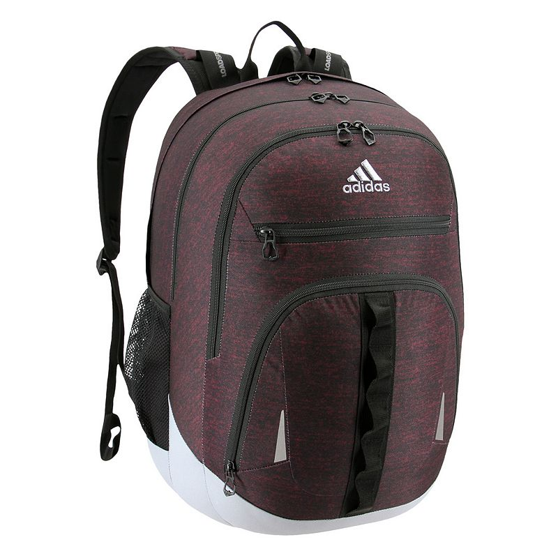 Adidas Prime IV Backpack, Red Keep essentials organized with this Adidas backpack. XXL size built with durable material for lasting use Internal zippered organizer keeps items handy Fully reflective accent panels to keep you seen da LoadSpring shoulder straps help ease the weight Five exterior zippered pockets Laptop compartment fits up to a 17-in. laptop 20.5 H x 14 W x 14.5 D Weight: 1.75 lbs. Polyester Zipper closure Manufacturer's lifetime limited warrantyFor warranty information please click here Model no. 5145518 Model Numbers Black: 5145518 Onix Jersey: 5145523 Royal Blue Jersey: 5145459 Onix Jersey Pink: 5145497 Black Jersey Red: 5145464 Onix Looper Hi-Res Green: 5145514 White Looper Black: 5145502 Burgundy Jersey: 5145516 Black Royal: 5145472 Royal Blue: 5145526 Carbon Light Blue: 5145457 Black Looper Orange: 5145512 Black Shock Pink: 5145471 Carbon Trace Pink: 5145503 Gray Onix Mint: 5145487 Size: One size.