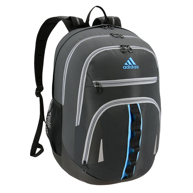 Adidas Prime IV Backpack, Grey Keep essentials organized with this Adidas backpack. XXL size built with durable material for lasting use Internal zippered organizer keeps items handy Fully reflective accent panels to keep you seen da LoadSpring shoulder straps help ease the weight Five exterior zippered pockets Laptop compartment fits up to a 17-in. laptop 20.5 H x 14 W x 14.5 D Weight: 1.75 lbs. Polyester Zipper closure Manufacturer's lifetime limited warrantyFor warranty information please click here Model no. 5145518 Model Numbers Black: 5145518 Onix Jersey: 5145523 Royal Blue Jersey: 5145459 Onix Jersey Pink: 5145497 Black Jersey Red: 5145464 Onix Looper Aqua: 5145514 White Looper Black: 5145502 Burgundy Jersey: 5145516 Black Royal: 5145472 Royal Blue: 5145526 Carbon Light Blue: 5145457 Black Looper Orange: 5145512 Black Shock Pink: 5145471 Carbon Trace Pink: 5145503 Gray Onix Mint: 5145487 Size: One size. Color: Grey.