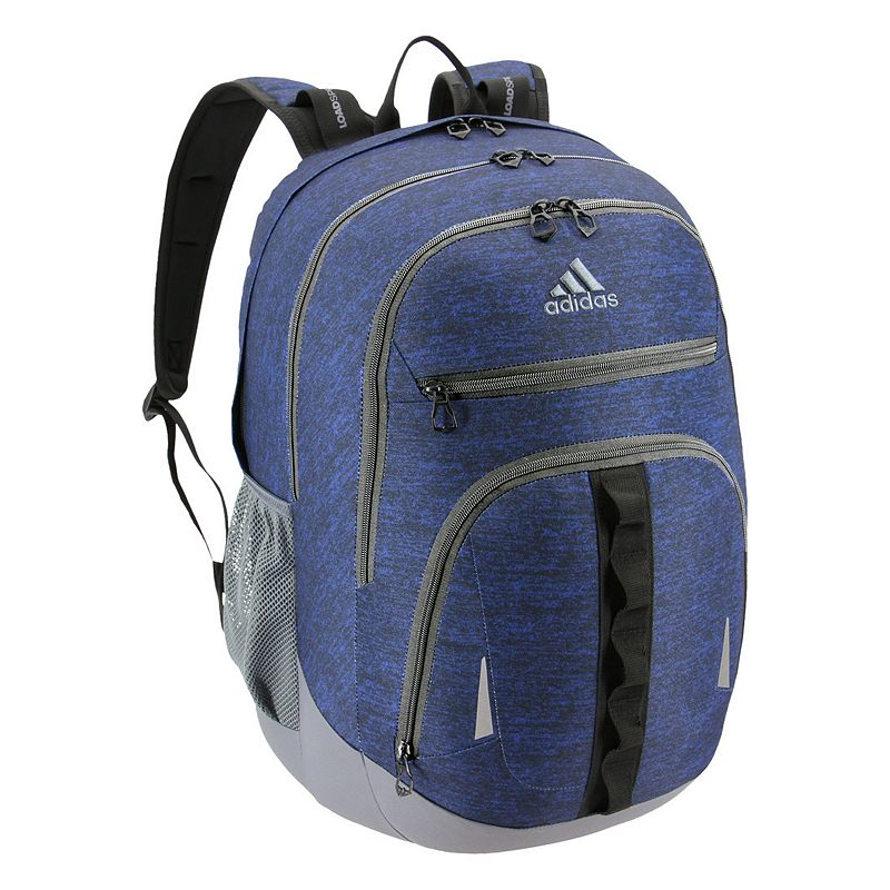 Adidas Prime IV Backpack, Blue Keep essentials organized with this Adidas backpack. XXL size built with durable material for lasting use Internal zippered organizer keeps items handy Fully reflective accent panels to keep you seen da LoadSpring shoulder straps help ease the weight Five exterior zippered pockets Laptop compartment fits up to a 17-in. laptop 20.5 H x 14 W x 14.5 D Weight: 1.75 lbs. Polyester Zipper closure Manufacturer's lifetime limited warrantyFor warranty information please click here Model no. 5145518 Model Numbers Black: 5145518 Onix Jersey: 5145523 Royal Blue Jersey: 5145459 Onix Jersey Pink: 5145497 Black Jersey Red: 5145464 Onix Looper Aqua: 5145514 White Looper Black: 5145502 Burgundy Jersey: 5145516 Black Royal: 5145472 Royal Blue: 5145526 Carbon Light Blue: 5145457 Black Looper Orange: 5145512 Black Shock Pink: 5145471 Carbon Trace Pink: 5145503 Gray Onix Mint: 5145487 Size: One size.