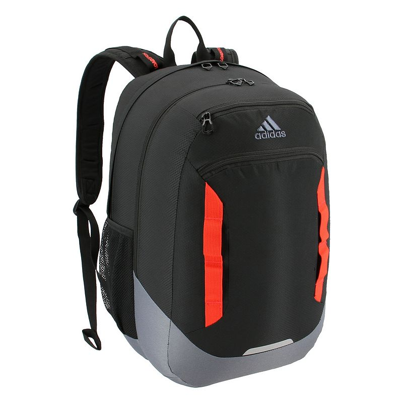 Adidas Excel IV Backpack, Black Easily go from class to practice with this Adidas backpack. XXL size built with durable material for lasting use Internal zippered organizer keeps items handy Four exterior zippered pockets LoadSpring shoulder straps for added comfort Two water bottle pockets Laptop compartment fits up to a 15.4-in. laptop 20.5 H x 13 W x 14.5 D Weight: 1.5 lbs. Polyester Zipper closure Manufacturer's lifetime limited warrantyFor warranty information please click here Model no. 5145454 Model Numbers Gray Black Mint: 5145454 White Jersey Scarlet: 5145479 Black Shock Pink: 5145494 Carbon Bright Blue: 5145515 Onix Aqua Lilac: 5145489 Rainbow Onix White: 5145496 Dark Blue: 5145476 Clear Mint: 5145465 Onix Jersey Pink: 5145522 Black Blue Looper: 5145524 Neo White Black: 5145442 Black Jersey: 5145501 Black: 5145460 Black Red: 5145468 Scarlet Khaki: 5145451 Size: One size.