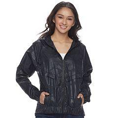 Juniors' Unionbay Marcie Hooded Windbreaker Jacket