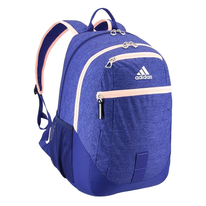 Adidas Foundation IV Backpack, Blue Easily go from class to practice with this Adidas backpack. Large size built with durable material for lasting use Internal zippered organizer keeps items handy Four exterior zippered pockets Padded shoulder straps and padded back panel Two water bottle pockets Laptop compartment fits up to a 13-in. laptop 19.5 H x 12 W x 15 D Weight: 1.1 lbs. Polyester Zipper closure Manufacturer's lifetime limited warrantyFor warranty information please click here Model no. 5145449 Model Numbers Shock Pink Pixel: 5145517 Onix Jersey Blue: 5145519 Rainbow Onix: 5145510 Black Red: 5145448 Onix Jersey Black: 5145484 Bright Blue Gray: 5145461 White Looper: 5145481 Black Royal Blue: 5145466 Blue Jersey Pink: 5145477 Black: 5145449 Black Shock Pink: 5145485 Size: One size.