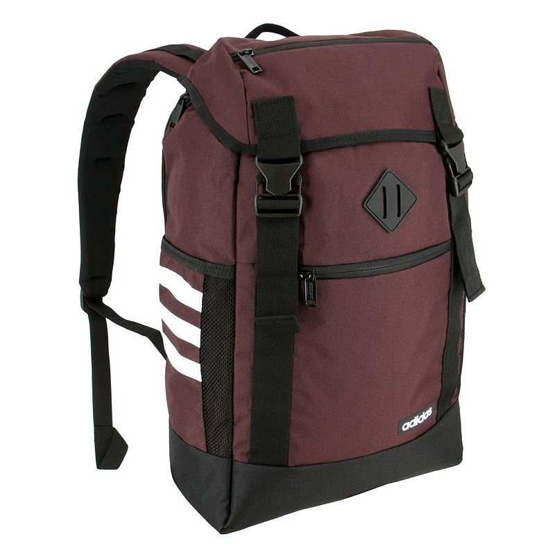 Adidas Midvale II Backpack, Red Stay stylish from school to the gym in this Adidas backpack. Dual cliplocks with main compartment cord lock Two external zippered pockets for extra storage Computer pocket fits up to a 15.4-in. laptop Foam padded shoulder straps and back panel 21 H x 12.5 W x 11 D Weight: 1.5 lbs. Polyester Zipper closure Manufacturer's lifetime limited warrantyFor warranty information please click here Model no. 5145470 Model Numbers Black: 5145458 Onix Jersey: 5145513 Night Red: 5145470 Size: One size.