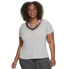 Plus Size Balance Collection Abby Strappy V-Neck Tee