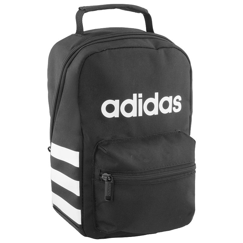 Adidas Santiago Lunch Bag, Black Functional and stylish, this Adidas lunch bag is the perfect way to keep your food ready to eat. Lined main pocket keeps food cold Small front pocket Adidas front logo Foam padded handle 12 H x 5.5 W x 7.5 D Weight: 0.9 lbs. Polyester Zipper closure Manufacturer's lifetime limited warrantyFor warranty information please click here Model no. 5143868 Model Numbers Black: 5143867 Jersey Onix: 5143868 Rainbow Onix: 5145491 Clear Mint: 5145492 Dark Blue: 5145498 Icey Pink: 5143870 Burgundy: 5143918 Bright Blue: 5145508 Size: One Size.