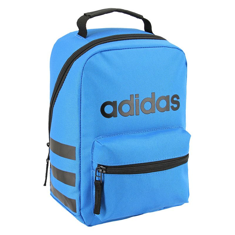 Adidas Santiago Lunch Bag, Blue Functional and stylish, this Adidas lunch bag is the perfect way to keep your food ready to eat. Lined main pocket keeps food cold Small front pocket Adidas front logo Foam padded handle 12 H x 5.5 W x 7.5 D Weight: 0.9 lbs. Polyester Zipper closure Manufacturer's lifetime limited warrantyFor warranty information please click here Model no. 5143868 Model Numbers Black: 5143867 Jersey Onix: 5143868 Rainbow Onix: 5145491 Clear Mint: 5145492 Dark Blue: 5145498 Icey Pink: 5143870 Burgundy: 5143918 Bright Blue: 5145508 Size: One Size.