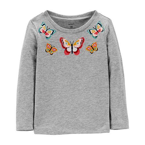 Baby Girl Carter's Butterfly Sequin Top