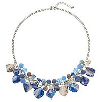 Shell Composite & Bead Cluster Bib Necklace