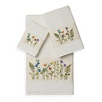 Linum Home Textiles Serenity 3-piece Embellished Bath Towel Set