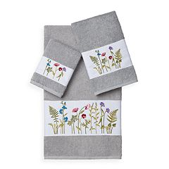 Linum Home Textiles Serenity 3-piece Embellished Bath  Towel Set