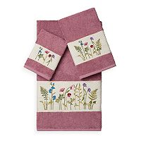 Linum Home Textiles Serenity 3 pc Embellished Bath Towel Set