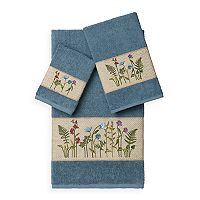 Linum Home Textiles Serenity 3 pc Embellished Bath Towel Set