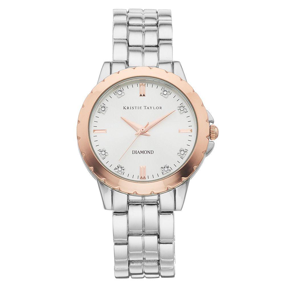Kristie Taylor Women's Diamond Accent Two Tone Watch - KH5301SL.KT